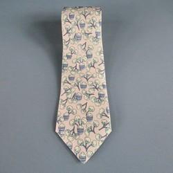 HERMES Lavender Silk Tie
