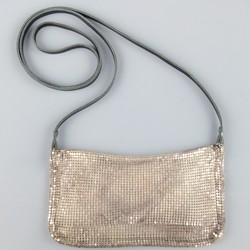 ISABEL MARANT Silver Metal Chainmail Mesh Mini Shoulder Bag