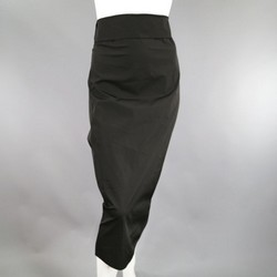 JEAN PAUL GAULTIER Size 10 Black Acetate Blend Tube Skirt