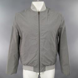 JIL SANDER 44 Gray Wool / Cotton Light Weght Bomber Jacket