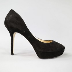 JIMMY CHOO Size 9 Black Suede Platform Pumps
