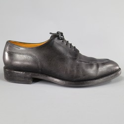 JOHN LOBB -CHAMBORD- Size 10.5 Black Leather Top Stitch Lace Up Dress Shoes
