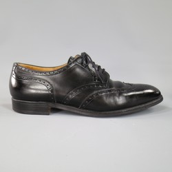 JOHN LOBB -DARBY- Size 10.5 Black Leather Wingtip Lace Up