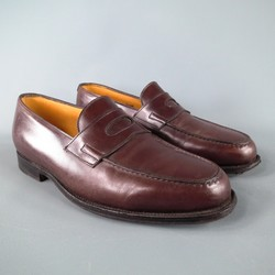 JOHN LOBB -LOPEZ- Size 7.5 Brown Leather Loafers