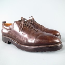 JOHN LOBB -RALEIGH- Size 8 Brown Leather Lace Up