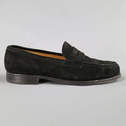 JOHN LOBB Size 8.5 Black Suede CAMPUS Loafers