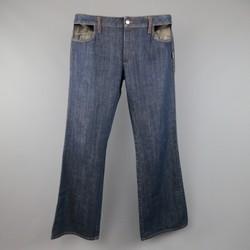 JPG GAULTIER JEANS Size 34 Indigo Denim Pocket Cutout Jeans