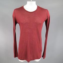 JULIUS_7 Size M Burgundy Sheer Cotton / Cashmere Long Sleeve T-shirt 2011
