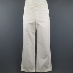 JUNYA WATANABE Size L White Cotton Wide Leg Cargo  Pants