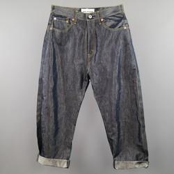 JUNYA WATANABE Size XS Indigo Metallic Cotton Blend Reverse Seam Jeans