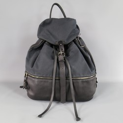 KRANE Black Canvas & Leather Oversized THEUS Backpack
