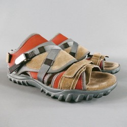 LANVIN Size 9 Suede Natural Sandals