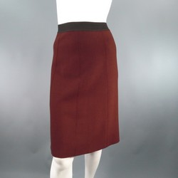 LANVIN Size M Brown Wool Knit A Line Skirt Skirt