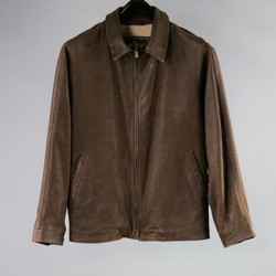 LORO PIANA 38 Brown Leather Jacket