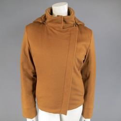 LORO PIANA Size 12 Tan Cashmere Storm System Hooded Ski Jacket