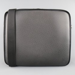 LOUIS VUITTON Black Leather ODESSA ARDOISE Computer Briefcase