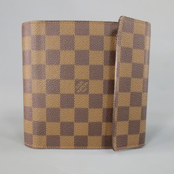 LOUIS VUITTON Brown Damier Canvas CD Disc Case W/ Strap