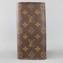LOUIS VUITTON Brown Monogram Canvas BRAZZA Wallet