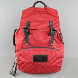 LOUIS VUITTON Cup 2012 Brick Red Damier Print Nylon Backpack