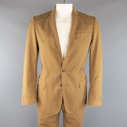 MAISON MARTIN MARGIELA 38 Tan Brown Cotton Chino 32 31 Casual Suit