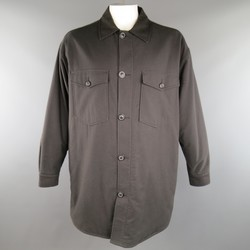 MAISON MARTIN MARGIELA 42 Charcoal Cotton / Wool Oversized Shirt Jacket