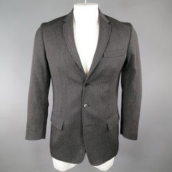 MAISON MARTIN MARGIELA Regular Charcoal Solid Wool Sport Coat