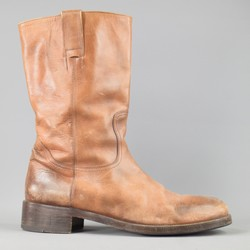 MAISON MARTIN MARGIELA Size 10.5 Rust Brown Leather Workman Boots