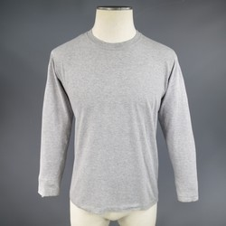 MAISON MARTIN MARGIELA Size M Mixed Heather Grey Cotton Long Sleeve T-Shirt
