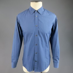 MAISON MARTIN MARGIELA Size S Cool Blue Cotton Long Sleeve Shirt