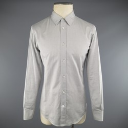 MAISON MARTIN MARGIELA Size S Light Gray Solid Cotton Long Sleeve Shirt