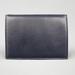 MAIYET Navy Leather Passport Holder Card Case