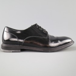 MARC JACOBS Size 10 Black Patent Leather Lace Up Derbys