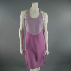 MARC JACOBS Size 4 Lavender Color Block Wool Racerback  Dress