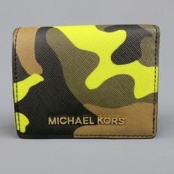 MICHAEL KORS Green Camoflage Wallet