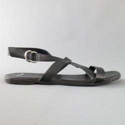 PIERRE HARDY Size 11 Black Leather Cross Strap Sandals