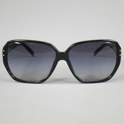 PRADA Black Acetate Oversized Square Frame Sunglasses