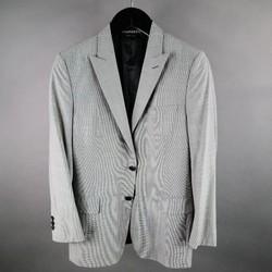 PRADA Regular Black & White Houndstooth Wool Sport Coat
