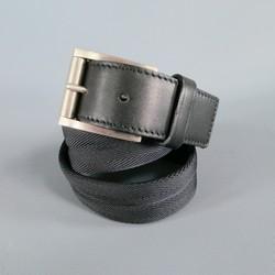 PRADA Size 30 Black Nylon Belt