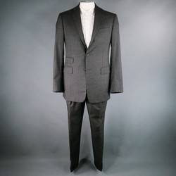 RALPH LAUREN 40 Long Charcoal Wool / Cashmere 34 35 Suit