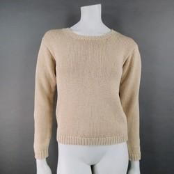 RALPH LAUREN Size S Beige Cotton Pullover