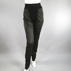 RICK OWENS Size M Black Cotton Panel Leggings