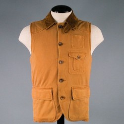 RRL by RALPH LAUREN 38 Tan Cotton Vest