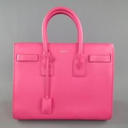 SAINT LAURENT Pink Leather Small Sac Du Jour Handbag