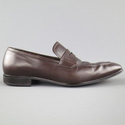 SALVATORE FERRAGAMO Size 8.5 Brown Leather Penny Loafers