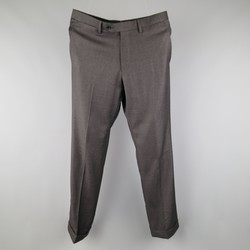 SARTORIA PARTENOPEA Size 32 Charcoal Wool Dress Pants
