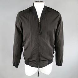 SILENT by DAMIR DOMA Size 38 Black Crepe Poly Bomber Jacket