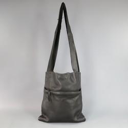 SIMONA TAGLIAFERRI Black Leather Raw Edge Strap Tote Bag