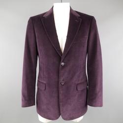 VALENTINO 40 Regular Plum Purple Corduroy Notch Sport Coat