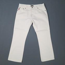 VALENTINO Size 33 White Denim Skinny Jeans