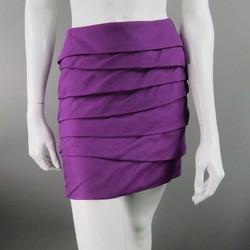 VERSACE Size 4 Purple Silk Skirt